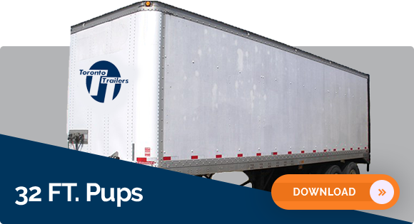 32′ Pup Storage Trailer Dimensions