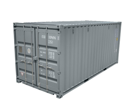 Grey 20′ Container